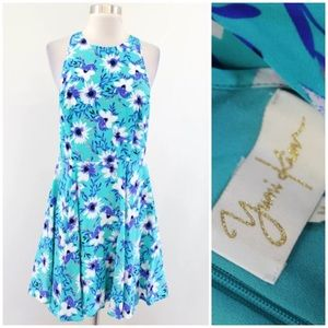 Yumi Kim Floral Printed Silk Racerback Dress